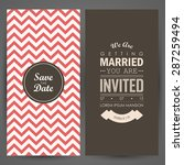 wedding invitation. vector... | Shutterstock .eps vector #287259494