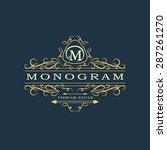 monogram design elements ... | Shutterstock .eps vector #287261270