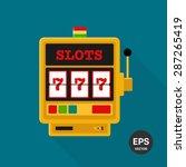 slot machine vector icon   Shutterstock .eps vector #287265419