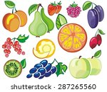 collection of fruits icons | Shutterstock .eps vector #287265560