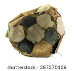 Old Deflated Soccer Ball...