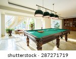 Close Up Of Billiard Table In...