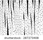 birch trees hand drawn... | Shutterstock .eps vector #287273408