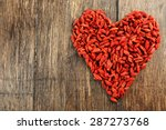 Goji Berries Arranged In Heart...
