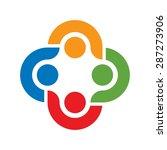 social network team partners... | Shutterstock .eps vector #287273906