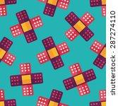medical bandage flat icon eps10 ... | Shutterstock .eps vector #287274110