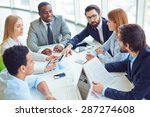 group of successful... | Shutterstock . vector #287274608