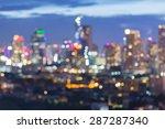 blur city lights during... | Shutterstock . vector #287287340
