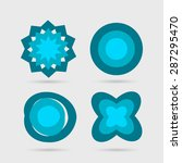 abstract icons set. vector... | Shutterstock .eps vector #287295470