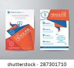 abstract triangle brochure... | Shutterstock .eps vector #287301710