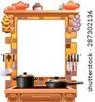 frame kitchen | Shutterstock .eps vector #287302136