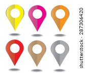 marker icon.   Shutterstock .eps vector #287306420