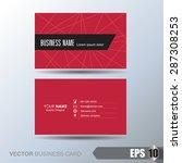 business card   Shutterstock .eps vector #287308253