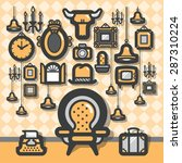 vintage chair background | Shutterstock .eps vector #287310224