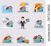 home and house insurance and... | Shutterstock .eps vector #287313800