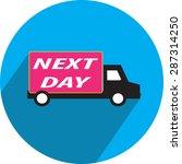 delivery van icons | Shutterstock .eps vector #287314250