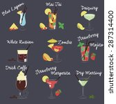set of vector illustration of... | Shutterstock .eps vector #287314400