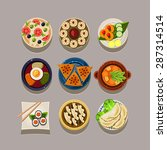 korean food vector illustration ... | Shutterstock .eps vector #287314514