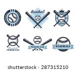 baseball emblems or badges with ... | Shutterstock .eps vector #287315210