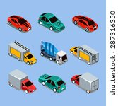 flat 3d isometric high quality... | Shutterstock .eps vector #287316350