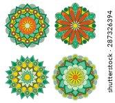 mandala. round ornament pattern....   Shutterstock .eps vector #287326394