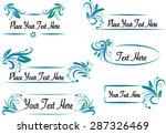 vector set  calligraphic design ... | Shutterstock .eps vector #287326469