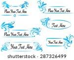 vector set  calligraphic design ... | Shutterstock .eps vector #287326499
