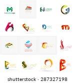 set of new universal company... | Shutterstock .eps vector #287327198