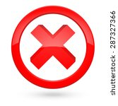 red ban or stop icon  | Shutterstock .eps vector #287327366