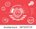 set of white infographics as...   Shutterstock .eps vector #287333729