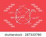 futuristic white vector... | Shutterstock .eps vector #287333780
