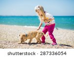 pretty little girl with blond... | Shutterstock . vector #287336054