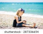 pretty little girl with blond... | Shutterstock . vector #287336654