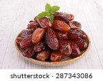 dried date | Shutterstock . vector #287343086