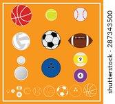 ball sport equipment vector and ... | Shutterstock .eps vector #287343500