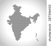 map of india | Shutterstock .eps vector #287346410