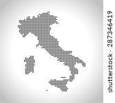 map of italy | Shutterstock .eps vector #287346419