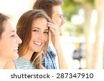 beauty woman with white smile... | Shutterstock . vector #287347910