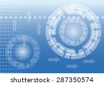 abstract technology background. ... | Shutterstock .eps vector #287350574