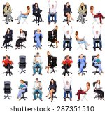corporate teamwork united... | Shutterstock . vector #287351510