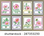 set vintage posters with hand... | Shutterstock .eps vector #287353250
