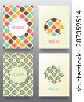 set of brochures. vintage style....   Shutterstock .eps vector #287359514