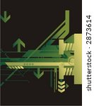 technical halftone background... | Shutterstock .eps vector #2873614