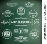 back to school calligraphic... | Shutterstock .eps vector #287362580