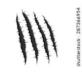 vector black four vertical... | Shutterstock .eps vector #287366954