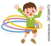 boy that the hula hoop | Shutterstock .eps vector #287368973