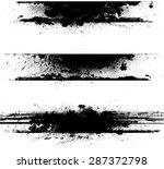 grunge edges vector set .... | Shutterstock .eps vector #287372798