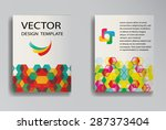 abstract  brochure template... | Shutterstock .eps vector #287373404