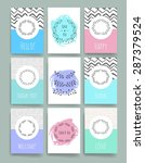 template. hand drawn vintage... | Shutterstock .eps vector #287379524