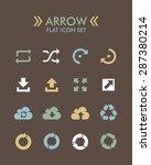 vector flat icon set   arrow  | Shutterstock .eps vector #287380214